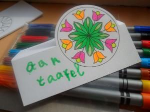 ingekleurde Mandala